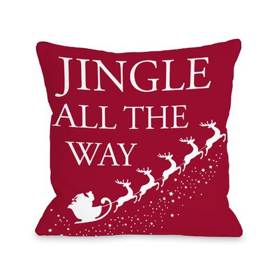 Jingle All the Way Sleigh Throw Pillow Size: 16 H x 16 W