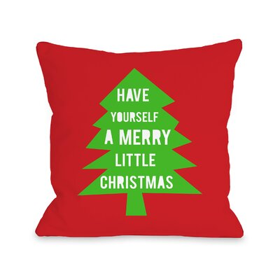 Merry Little Christmas Mod Tree V1 Throw Pillow Size: 16 H x 16 W