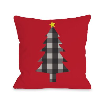 Plaid Tree Throw Pillow Size: 18 H x 18 W