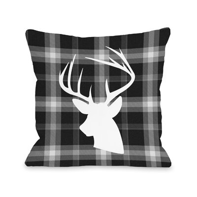Blitzen Plaid Throw Pillow Size: 18 H x 18 W