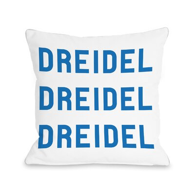 Dreidel Throw Pillow Size: 18 H x 18 W