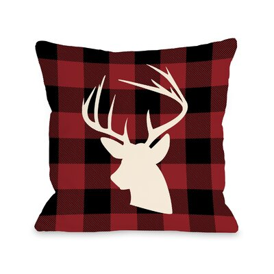 Comet Plaid Throw Pillow Size: 18 H x 18 W