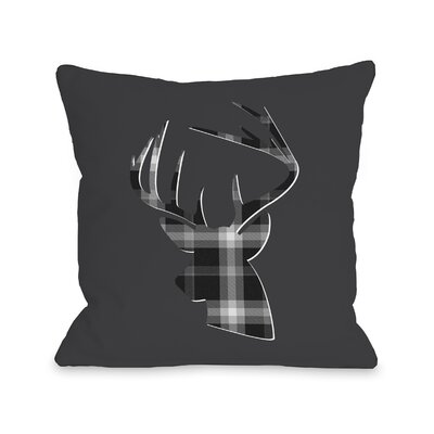 Dasher Plaid Throw Pillow Size: 18 H x 18 W
