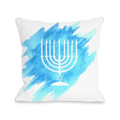 Menorah Throw Pillow Size: 16 H x 16 W