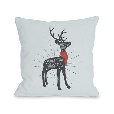 Merry Little Christmas Deer Throw Pillow Size: 18 H x 18 W