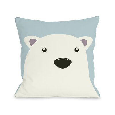 Polar Bear Throw Pillow Size: 16 H x 16 W