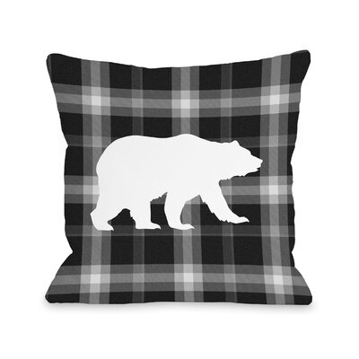 Polar Plaid Night Throw Pillow Size: 18 H x 18 W