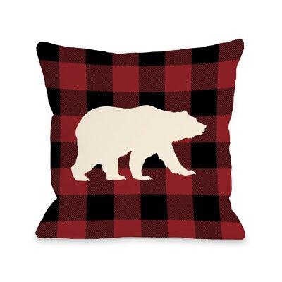 Polar Plaid Ruby Throw Pillow Size: 16 H x 16 W