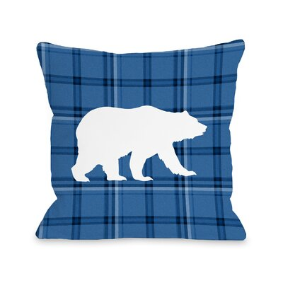 Polar Plaid Sky Throw Pillow Size: 18 H x 18 W