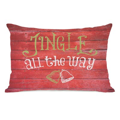 Jingle All the Way Bells Wood Lumbar Pillow