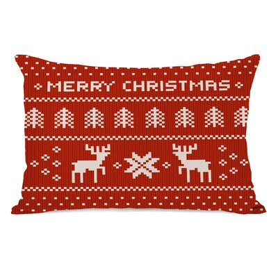 Merry Christmas Sweater Lumbar Pillow