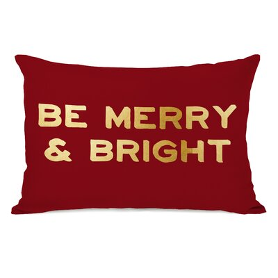 Be Merry and Bright Lumbar Pillow