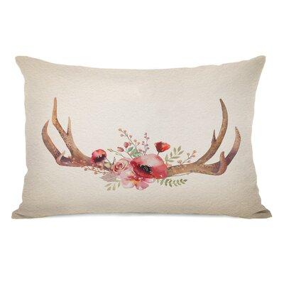 Christmas Antlers Lumbar Pillow