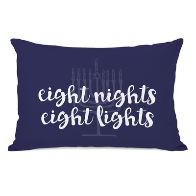 Eight Nights Eight Lights Lumbar Pillow