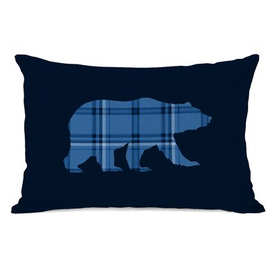 Polar Plaid Indigo Lumbar Pillow