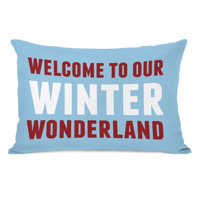Welcome to Our Winter Wonderland Lumbar Pillow