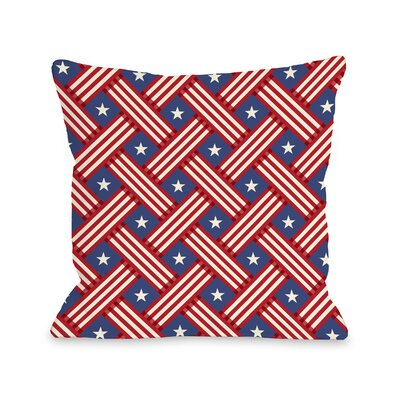 Patriot Pattern Throw Pillow Size: 18 H x 18 W x 3 D