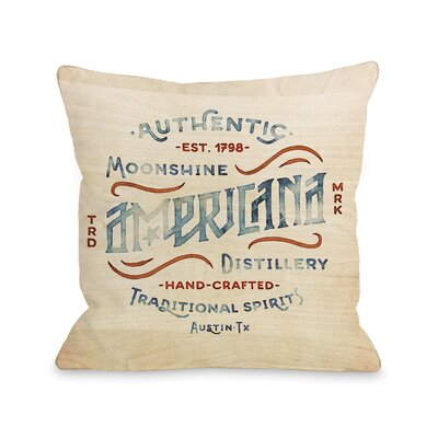 Americana Moonshine Throw Pillow Size: 16 H x 16 W x 3 D