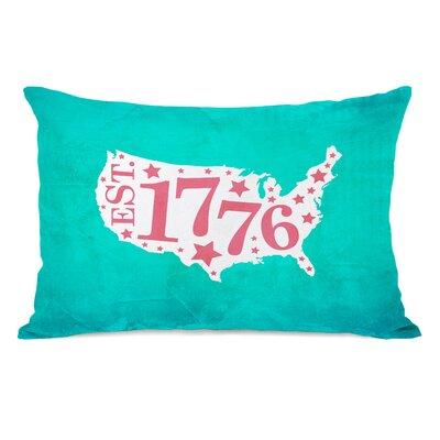 1776 Map Lumbar Pillow