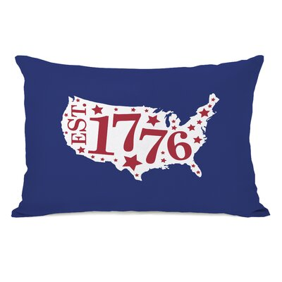 1776 Map Lumbar Pillow