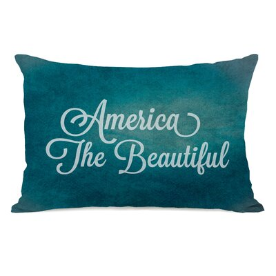 America the Beautiful Lumbar Pillow