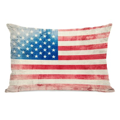 Independence Flag Lumbar Pillow