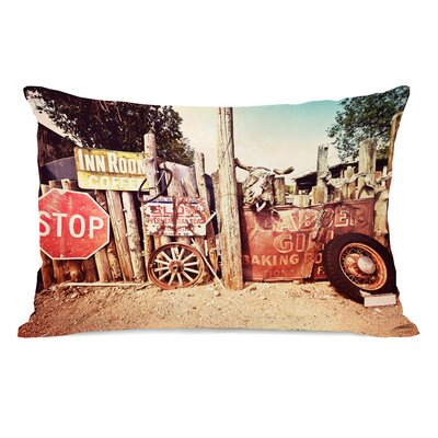 Old Americana Signs Lumbar Pillow