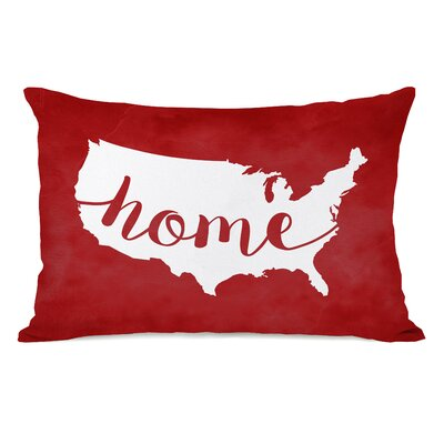 USA Map Home Lumbar Pillow