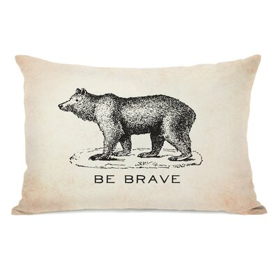 Vintage Bear Be Brave Lumbar Pillow