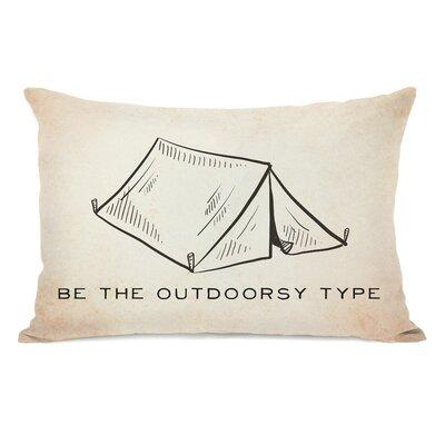 Vintage Tent Outdoorsy Type Lumbar Pillow