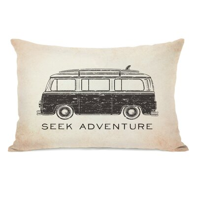 Vintage Van Seek Adventure Lumbar Pillow