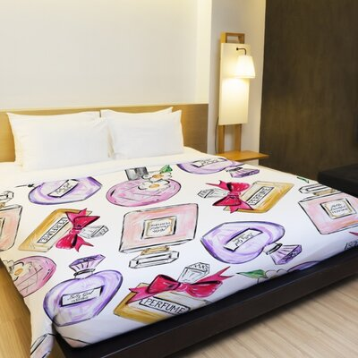 Hello Beautiful Perfume Duvet Cover