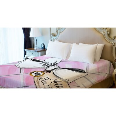 Hello Beautiful Quilted Lightweight Duvet Cover Size: King