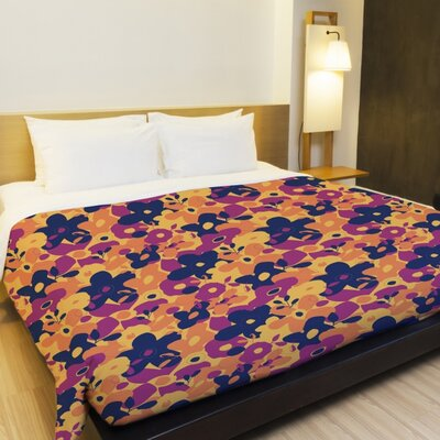 Boho Blossoms Lightweight Duvet Cover Size: Full Queen