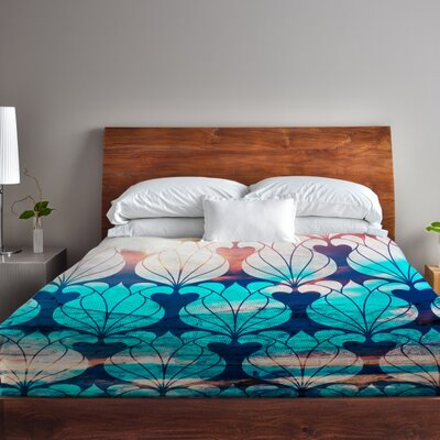 Natalies Blooms Duvet Cover Size: King