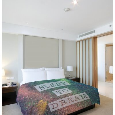 Sleep to Dream Galaxy Lightweight Duvet Cover Size: Twin