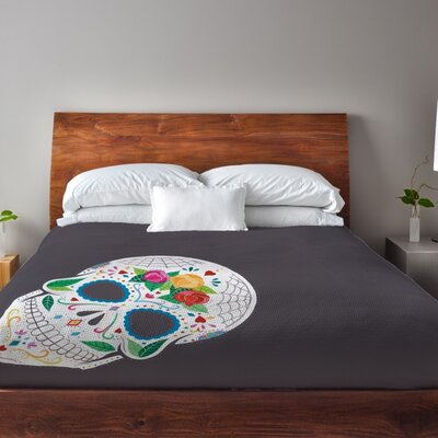 Calavera Duvet Cover Size: King