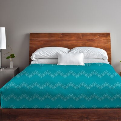 Athena Tier Peacock Duvet Cover Size: Full Queen