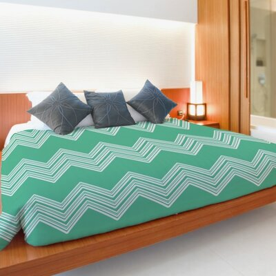 Juniperi Chevron Duvet Cover Size: Twin