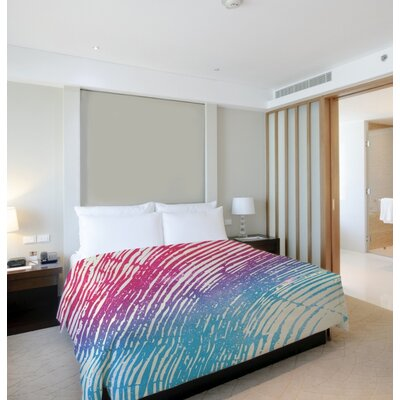 Tree Rings Lightweight Duvet Cover Size: King