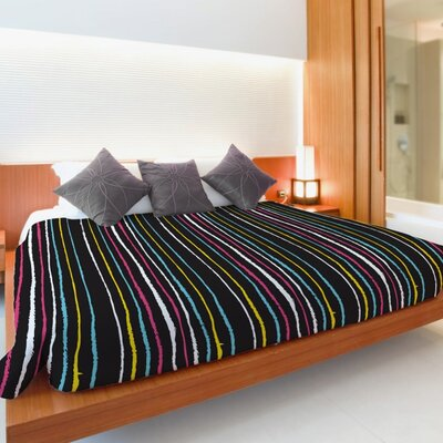 Stripe Lightweight Duvet Cover Size: King