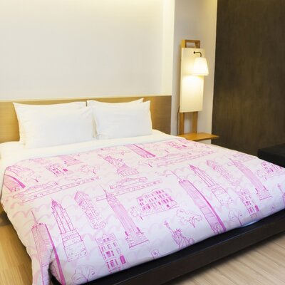 Love from NYC 20 Duvet Cover Size: King