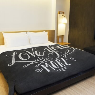 Love You More Duvet Cover Size: Full Queen