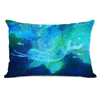 Mermaid in the Sky Lumbar Pillow