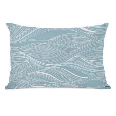Abstract Ocean Lumbar Pillow