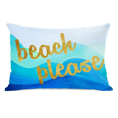 Beach Please Lumbar Pillow