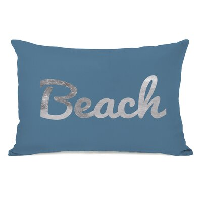 Beach Script Lumbar Pillow