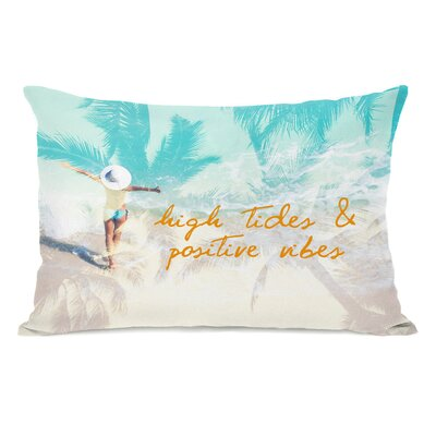 High Tides Positive Vibes Lumbar Pillow