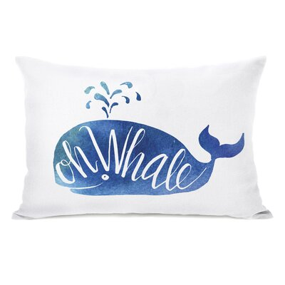 Oh Whale Watercolor Lumbar Pillow