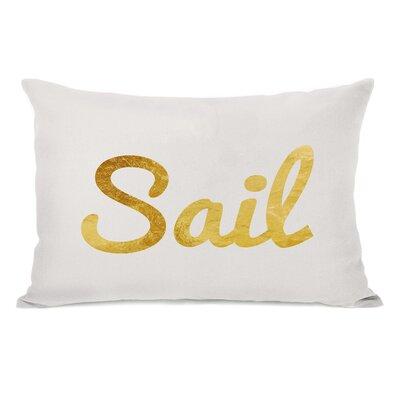 Sail Script Lumbar Pillow